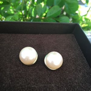Exquisite vintage gold trimmings Pearl Earings